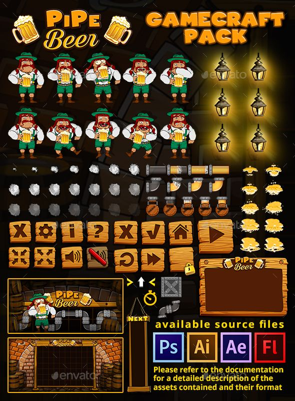 PipeBeer Game Assets - Game Kits Game Assets   Royalty Free