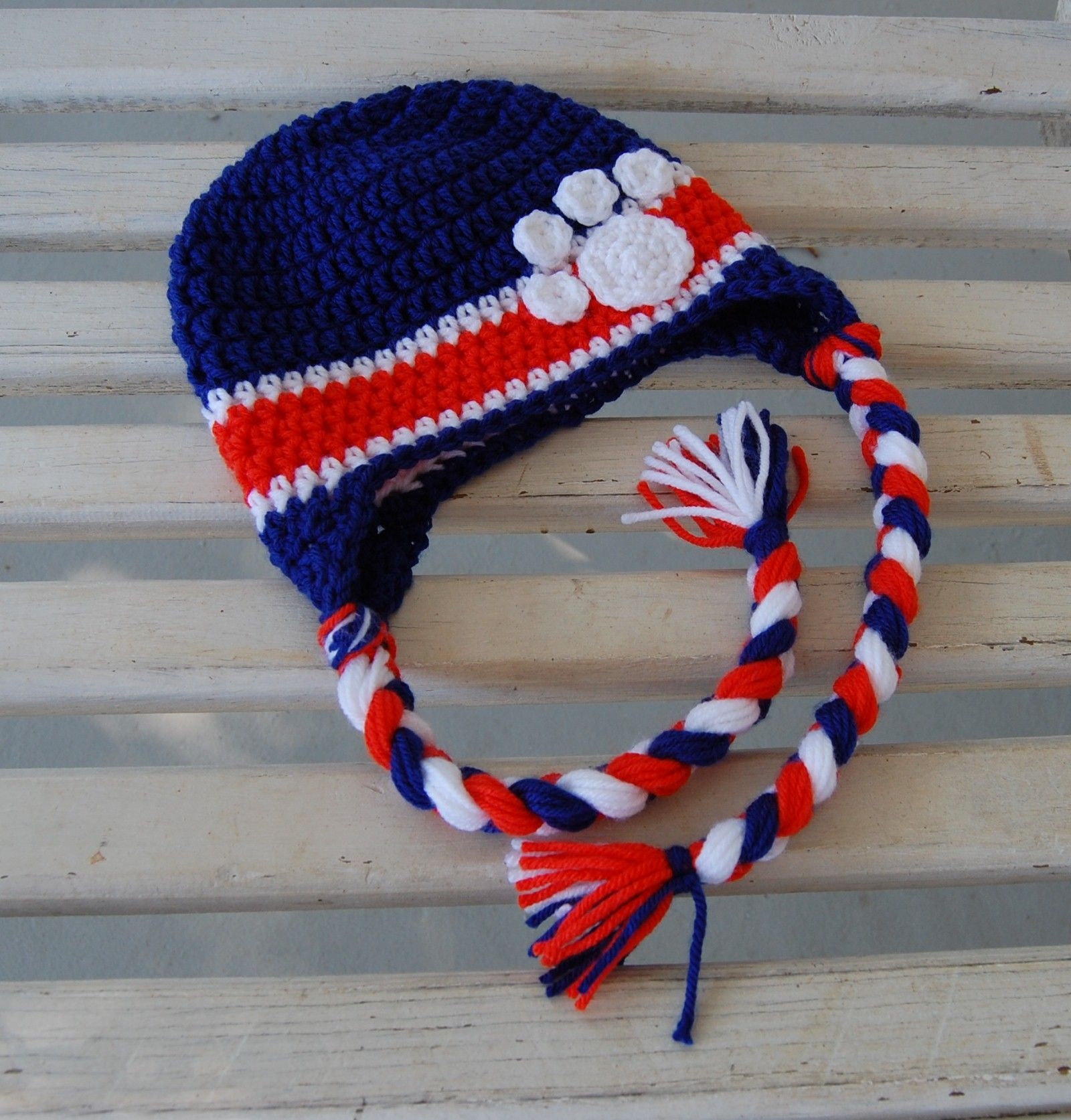 Crochet clemson fan hat crocheted pieces pinterest crochet