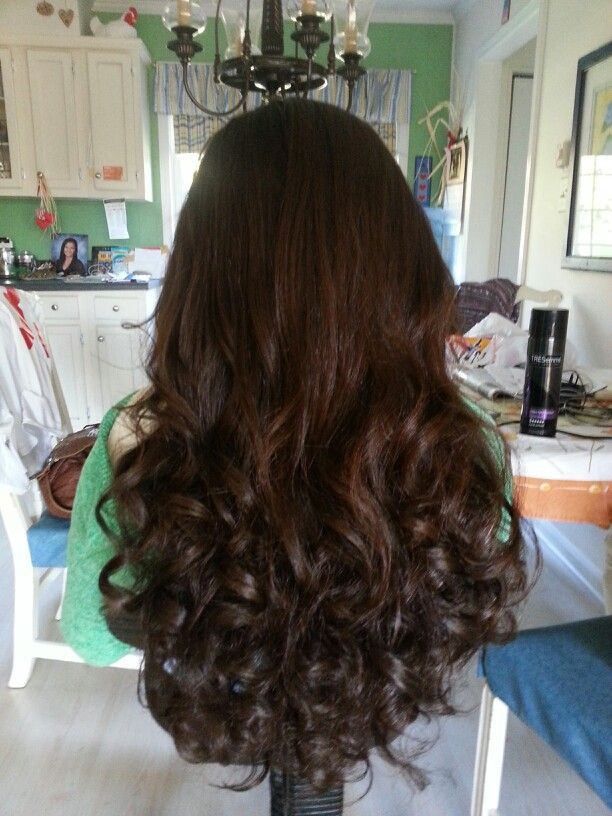 My Hair For Homecoming Loose Curls At The Bottom Straighten The Top For A Flatter Look Homecoming Hairstyles Dance Hairstyles Hair