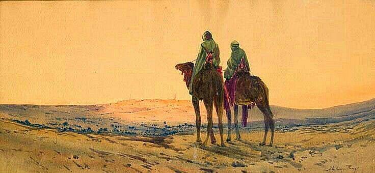 Algerie Peintre Francais Alphonse Rey 1865 1938 Aquarelle
