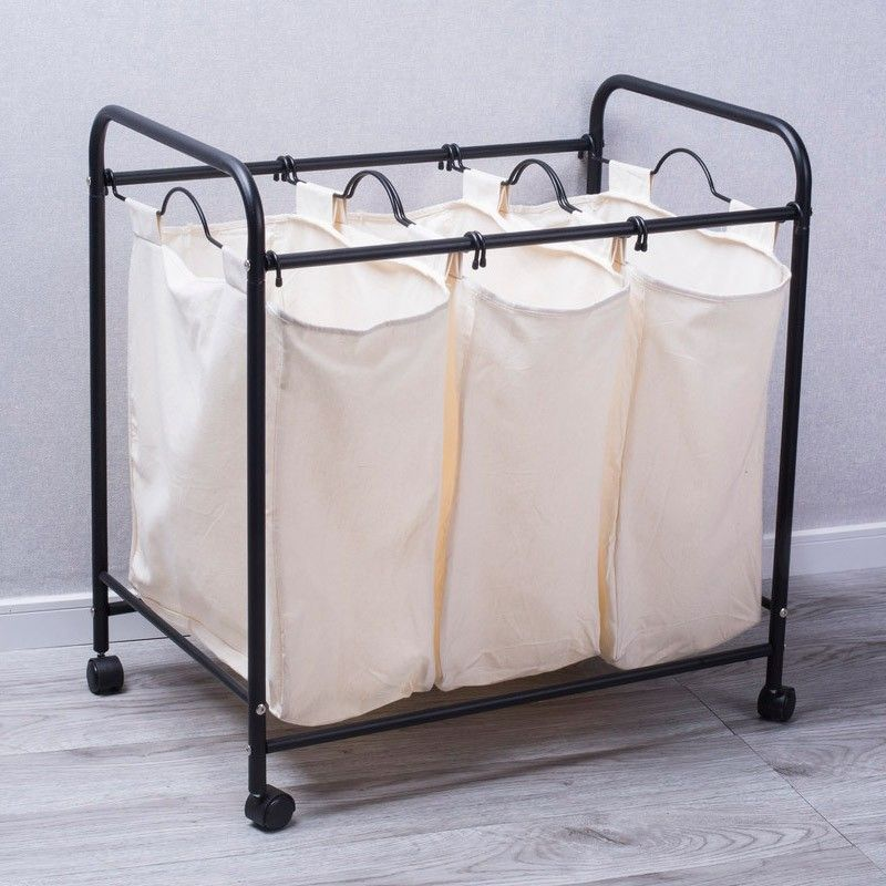 Sanam Laundry Hamper With Triple Sorter Laundry Sorter Laundry Hamper Laundry Sorting