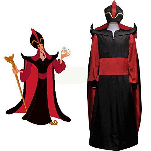 Cuterole Mens Aladdin Jafar Villain Costume Adult Aladdin Cosplay Costume Custom