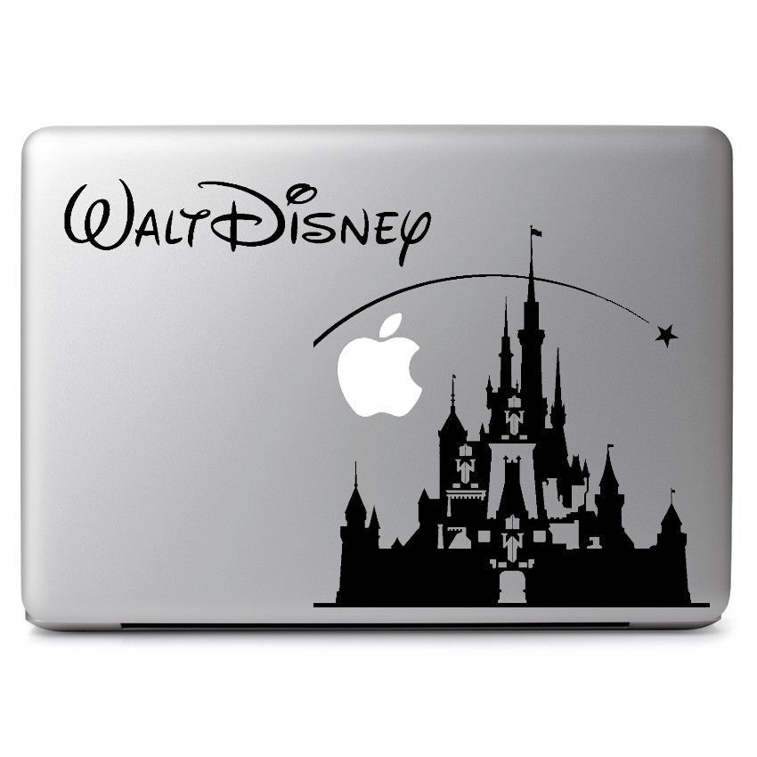 Disney castle decal sticker skin for apple macbook air laptop