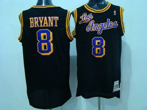 quality design f4e14 75239 Mitchell and Ness Lakers #8 Kobe Bryant Black Purple/Yellow ...