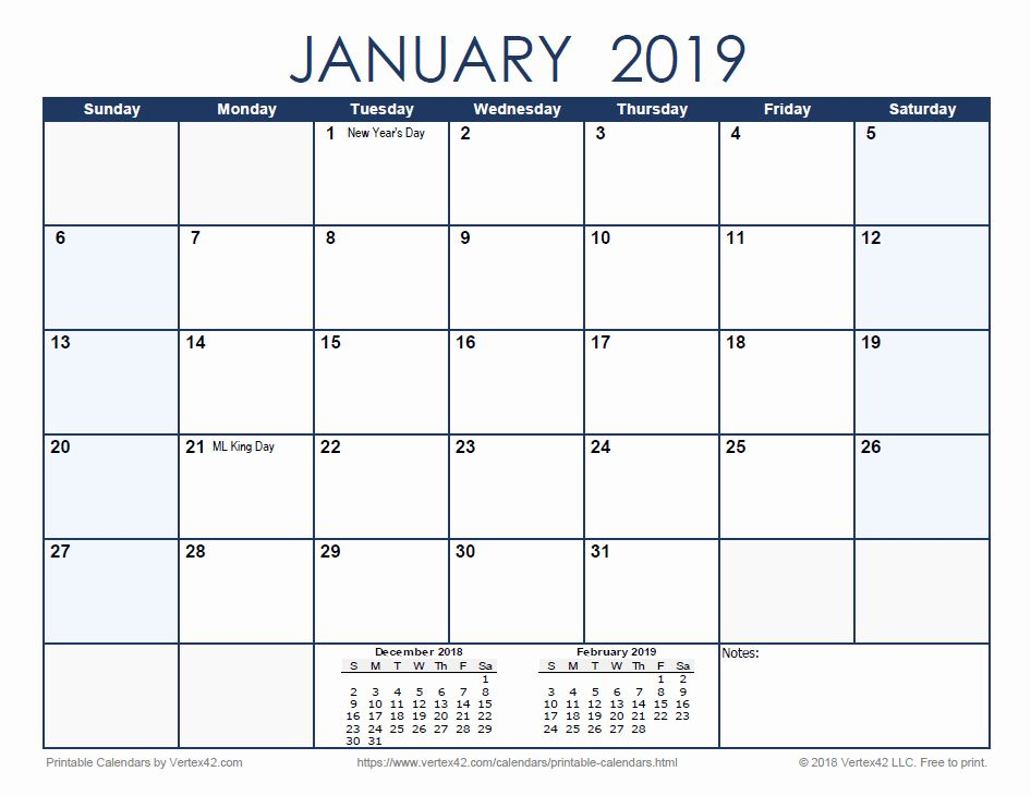 Big calendar 2018