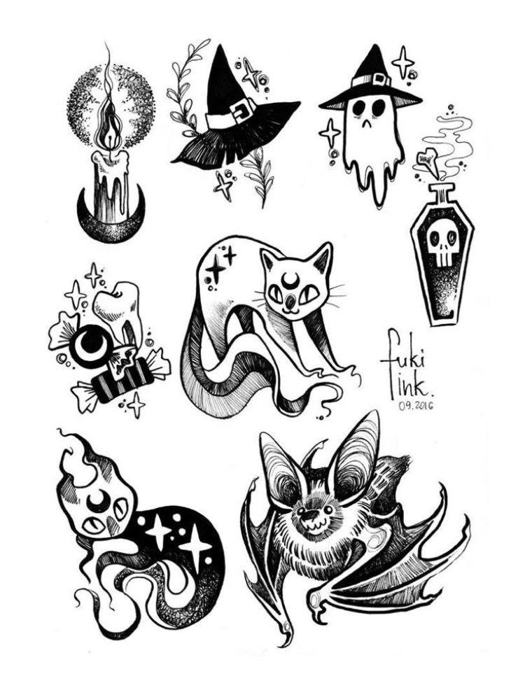 Pin by Hailey on Artwork Halloween tattoos, Goth tattoo
