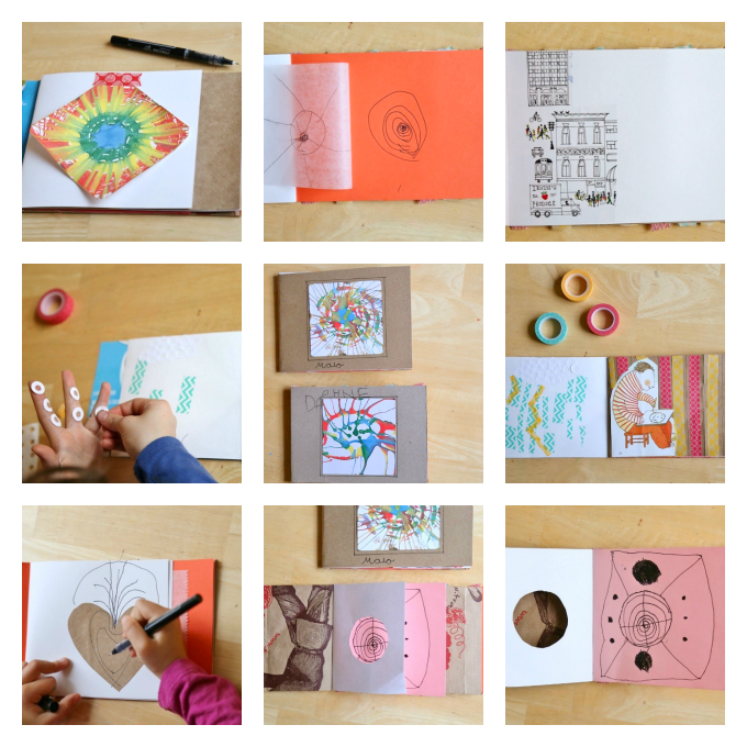Art Journals For Kids Made With Recycled Materials
