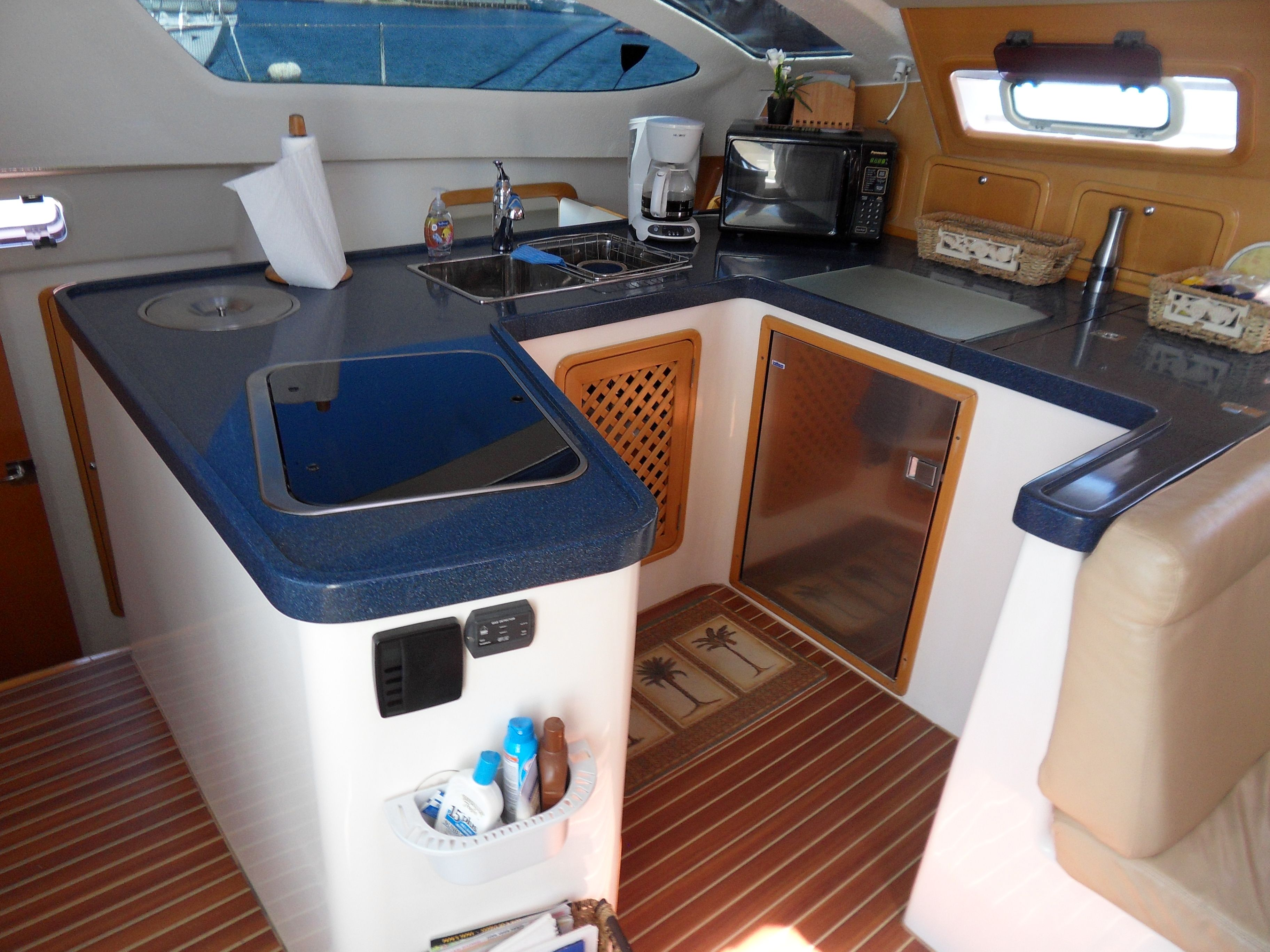 Admiral 38 Galley Yacht Interior Boat Galley Sailing Yacht