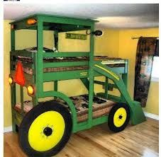 John Deere Bunk Beds With Front Loader By Fourjscrafts On Etsy