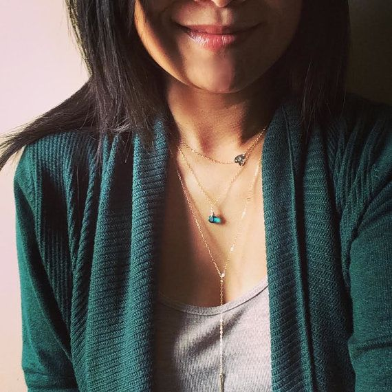 Dainty Gold Filled Sideways Heart Initial Necklace  by cocowagner