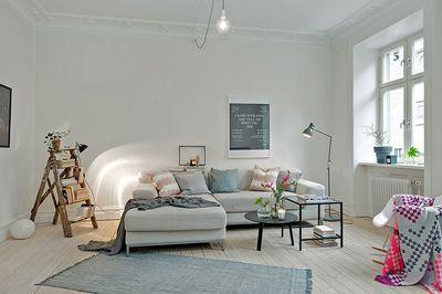 déco salon moderne design scandinave, deco scandinave noir et blanc - Deco Salon Moderne Noir Et Blanc
