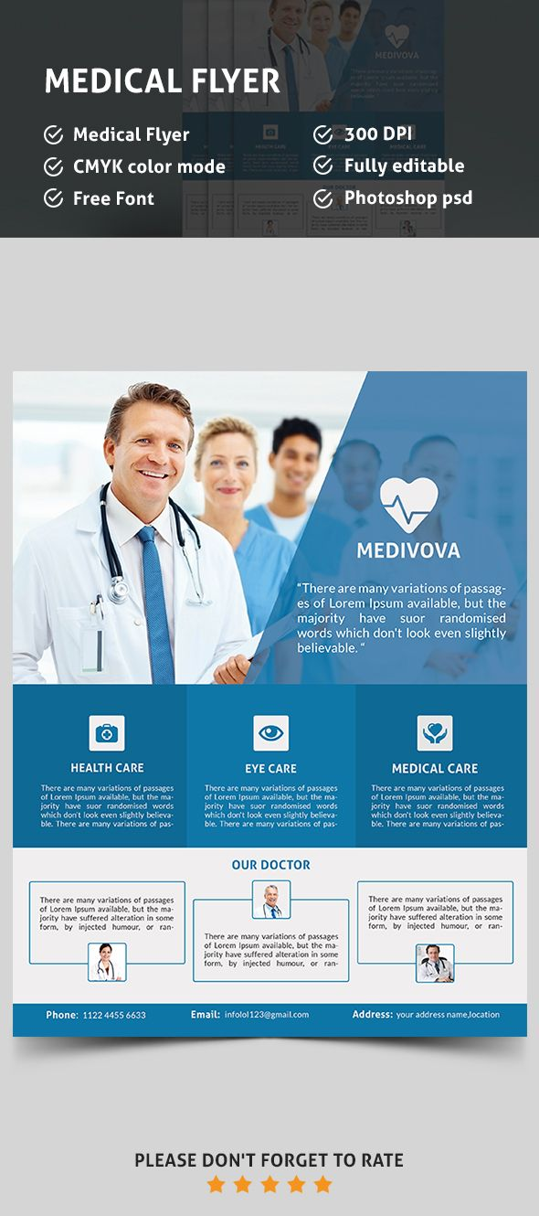 medical flyer psd template flyers design pinterest flyer