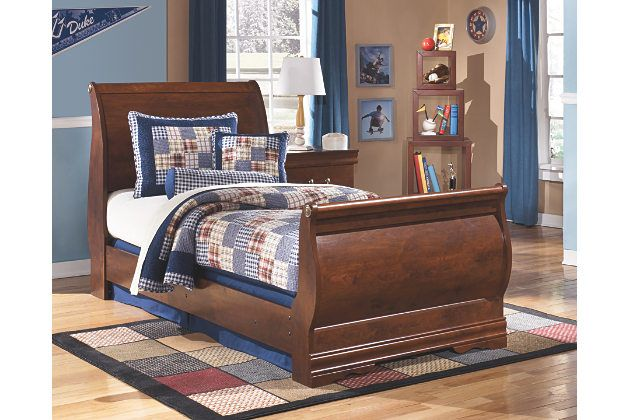 Wilmington Twin Sleigh Bed By Ashley Homestore Brown Twin