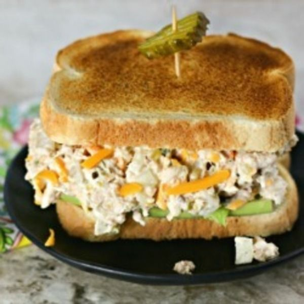 The Best Ever Tuna Salad is tangy, creamy and delicious with a totally surprising ingredient!