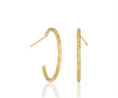 De Beers Yellow Diamond Hoop Earrings.