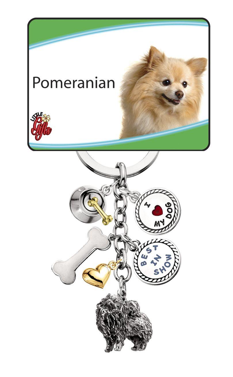 Pomeranian Keychain I Love My Pom Old English Sheepdog English Sheepdog Pomeranian