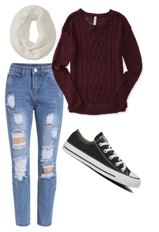 """""""Winterrrrr"""" by livvie47 on Polyvore featuring Aéropostale and Converse"""
