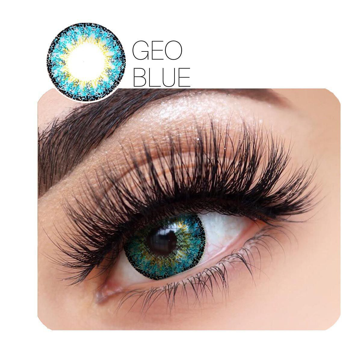 Geo Charm Prescription Blue 12 Month Contact Lenses Stunninglens Contact Lenses Colored Green Contacts Lenses Halloween Contact Lenses