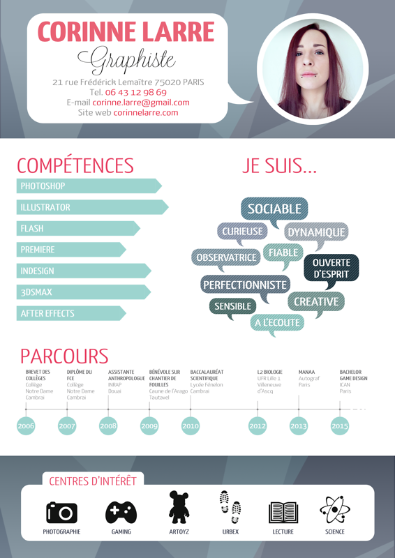 game designer cv exemple