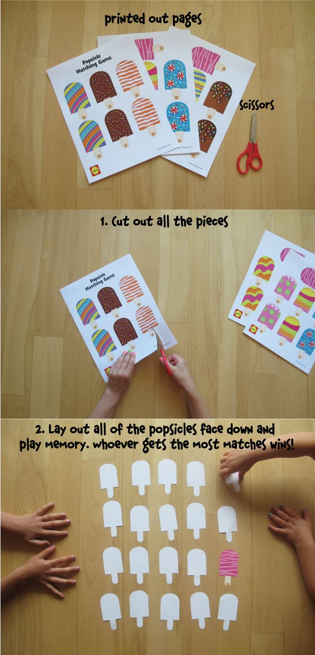 photograph regarding Make Your Own Matching Game Printable identified as Printable: Popsicle Matching Sport lody