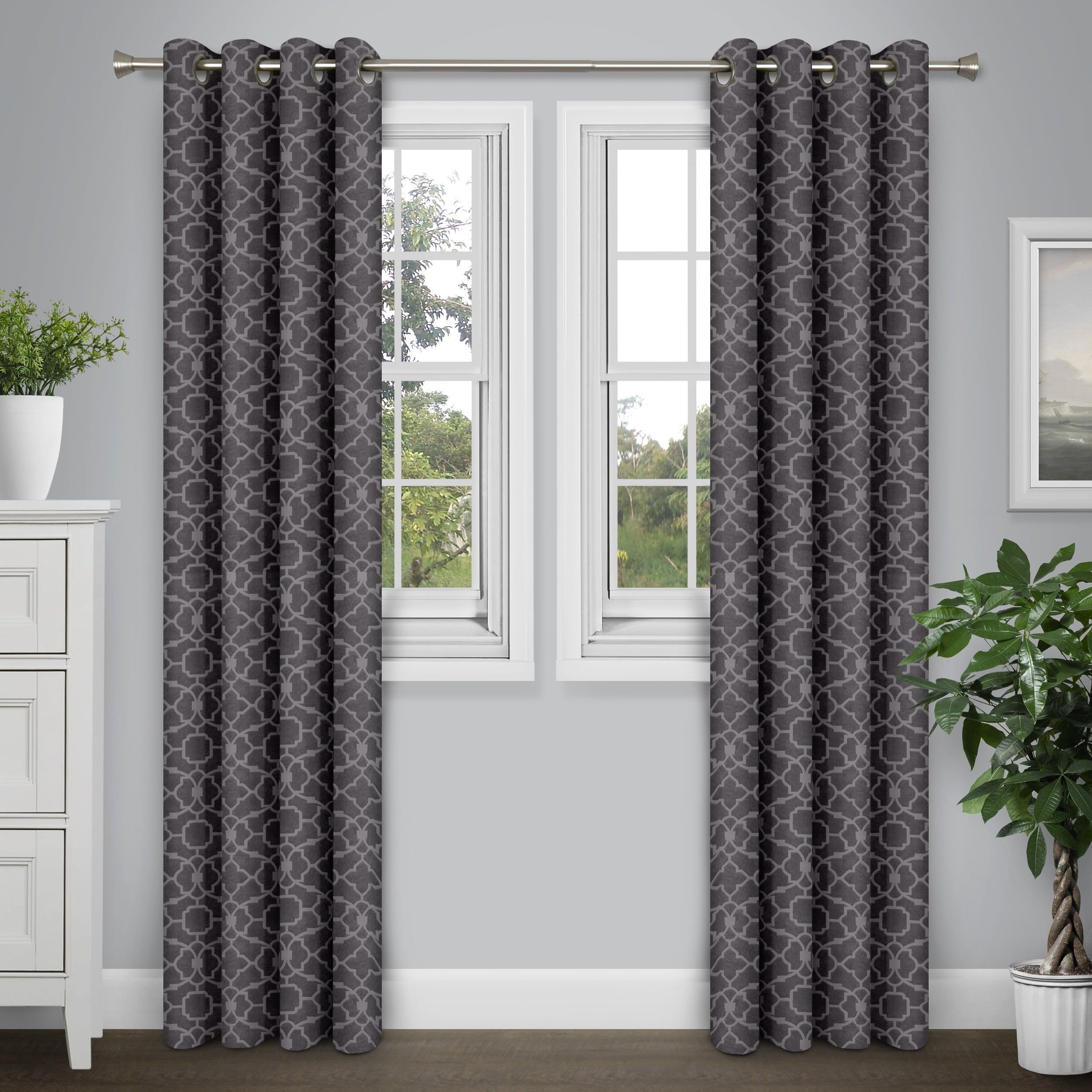 Journee Home Arthur 84 In Grommet Energy Efficient Blackout Curtain Panel Taupe