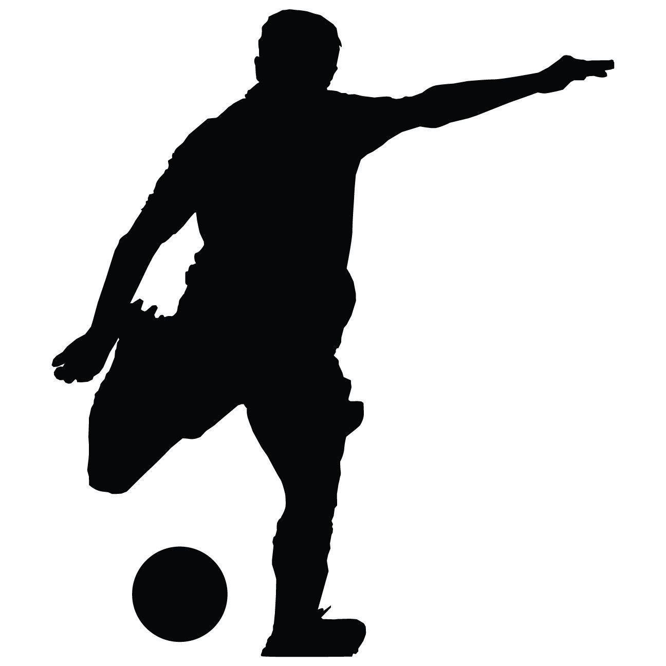 Soccer Wall Decal - Man Futbol Player Sticker #00001 ...