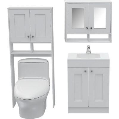 Depa pinterest ba os muebles de ba o y muebles - Mueble encima wc ...