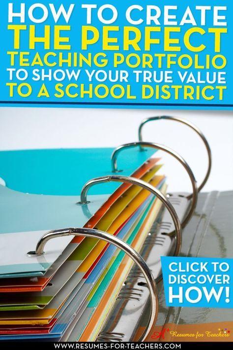 8 Teaching Portfolio Essential Elements to Grab Attention | Teacher ...