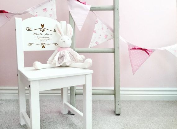 Personalised Chair 1st Birthday Present First Gift New Baby Christening Baptism Wooden
