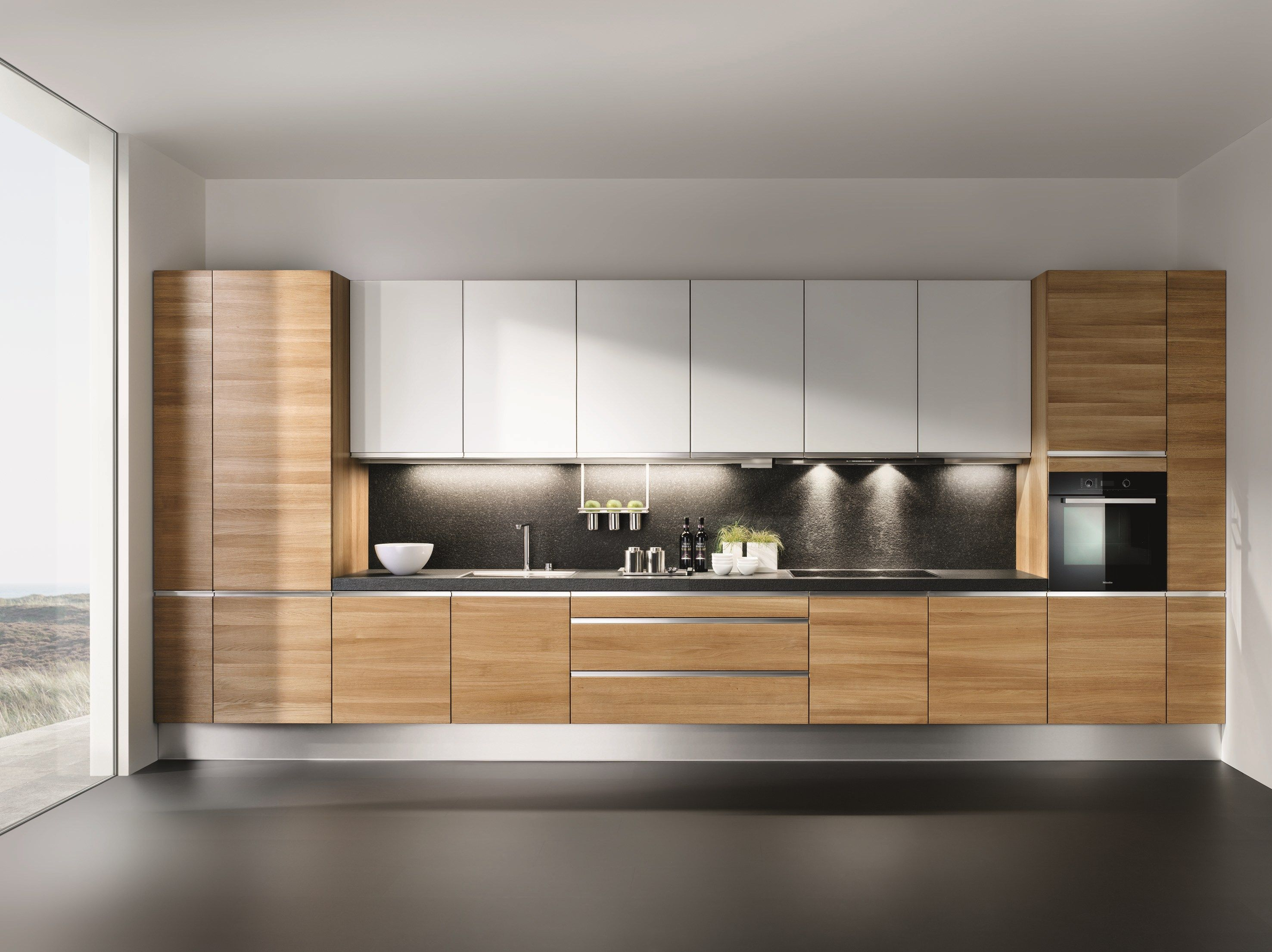 wooden fitted kitchen linee linee collection by team 7 nat rlich wohnen design karl auer. Black Bedroom Furniture Sets. Home Design Ideas