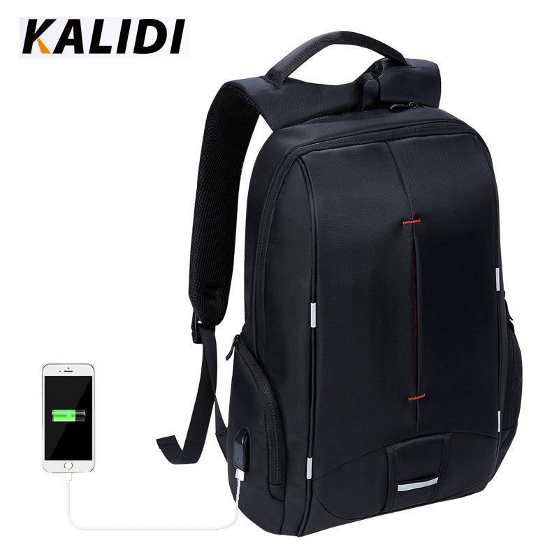 KALIDI 17 inch Waterproof Men Backpack USB Charging College ...