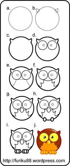 Owl Drawing How To Cosas Para Journal Pinterest Dibujo