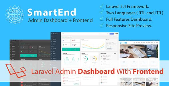 SmartEnd CMS - Laravel Admin Dashboard with Frontend and
