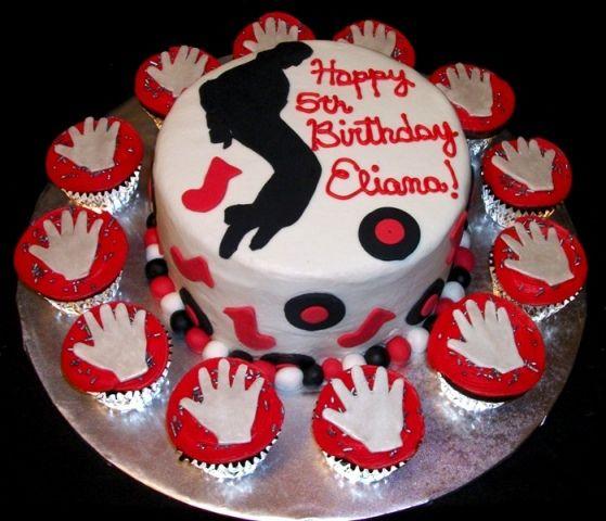 Surprising Michael Jackson Themed Birthday Cake W Cupcakes Michael Jackson Funny Birthday Cards Online Hetedamsfinfo