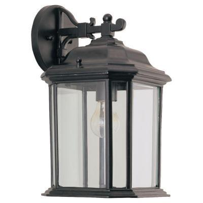Sea gull lighting kent 1 light black outdoor wall fixture wall sea gull lighting kent 1 light black outdoor wall fixture aloadofball Images