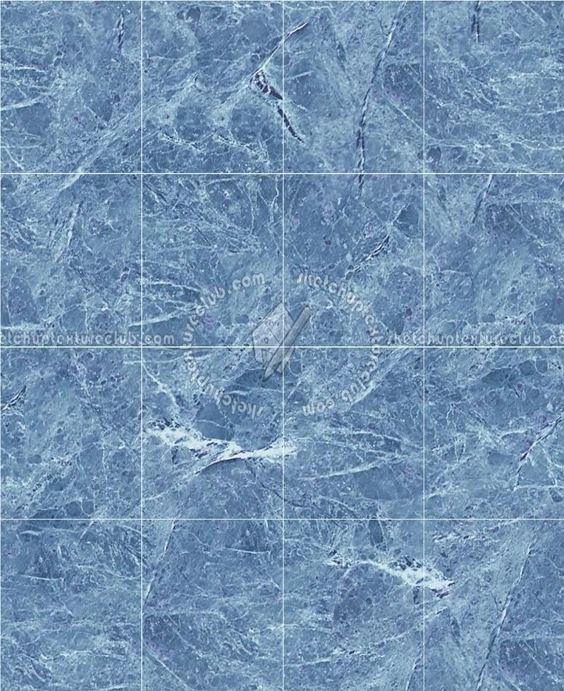 Royal Blue Marble Tile Texture Seamless