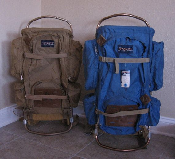 reserved for benson vintage jansport d 5 external frame hiking backpack vintage khaki aluminum frame backpack from made of flaws - External Frame Hiking Backpack