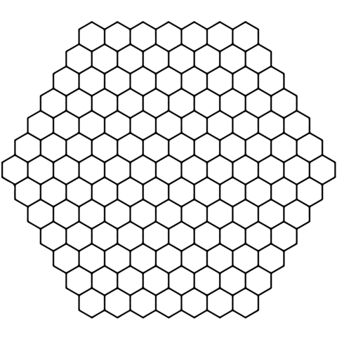 Honeycomb Tessellation coloring page from Tessellations