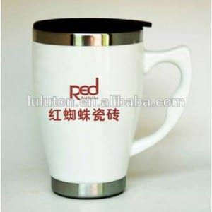 www.lltbottles.com coffee mug inner stainless steel outer ceramic mug •Our Lids Are Sealed leak and spill proof . •Double-wall insulated mug; 100% BPA Free