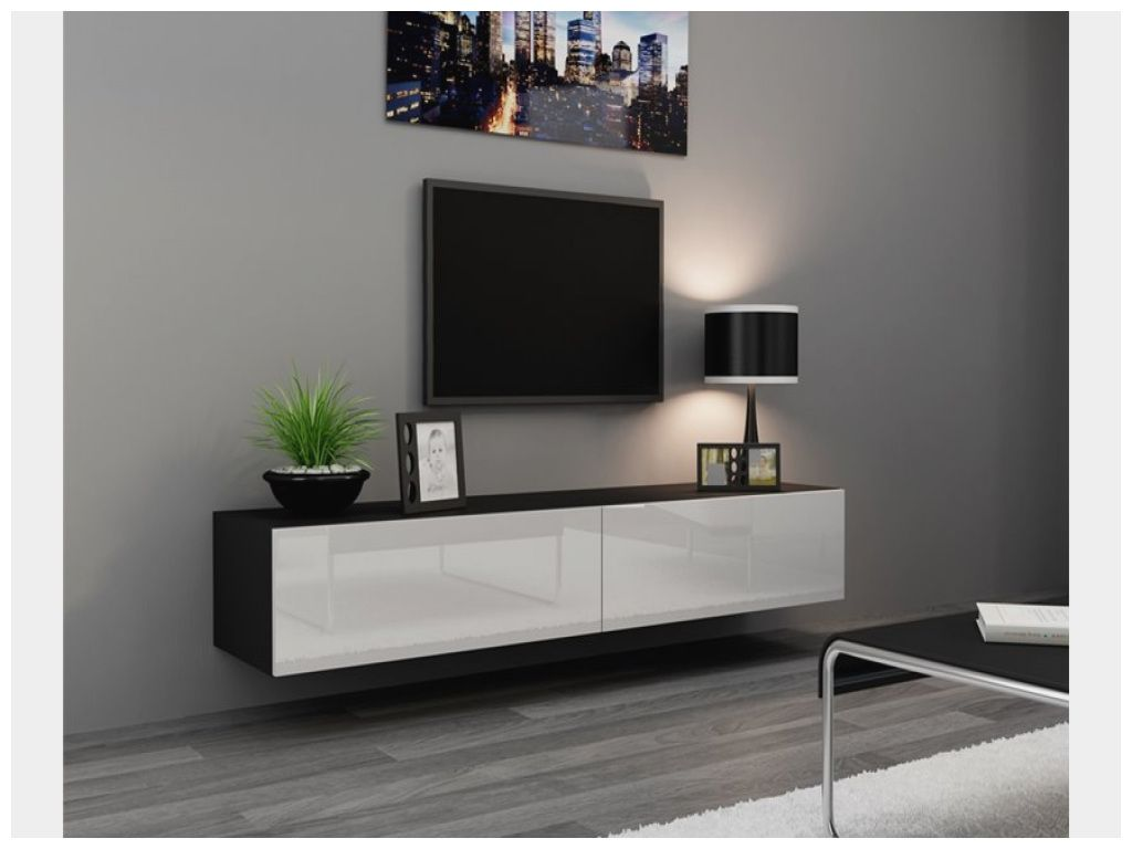 Elegant Meuble Sous Tv Suspendu Design Mebel Benares