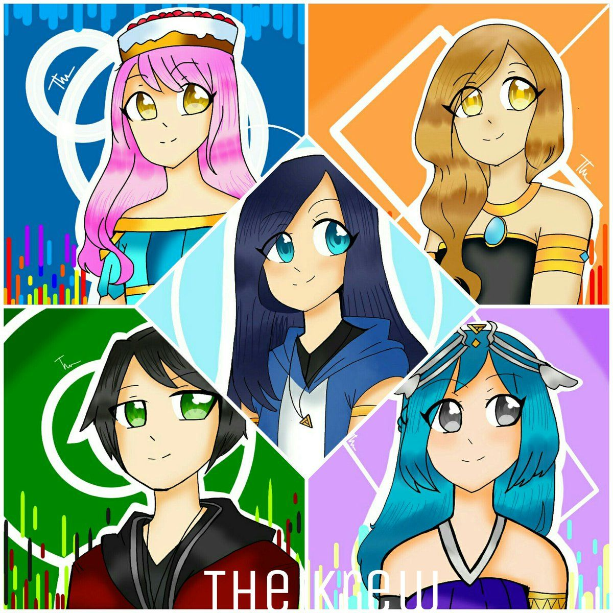 The Krew Cute Youtubers Cute Drawings Youtube Art