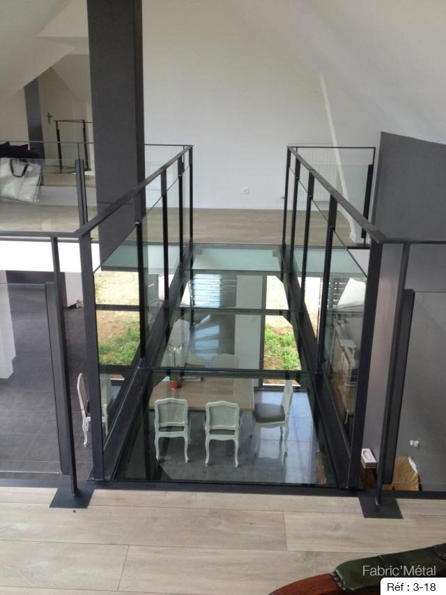 fabrication passerelle metallique verre en bretagne morbihan mezzanine pinterest. Black Bedroom Furniture Sets. Home Design Ideas