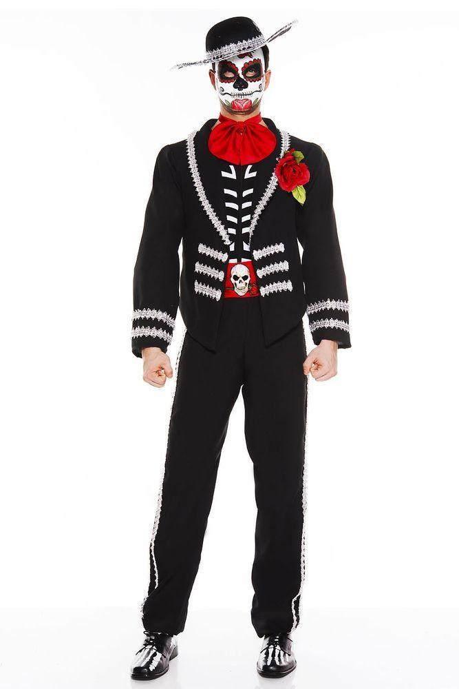 Music Legs Day of the Dead Miriachi Mariachi Deluxe Halloween Costume Menu0027s M/L  sc 1 st  Pinterest & Music Legs Day of the Dead Miriachi Mariachi Deluxe Halloween ...