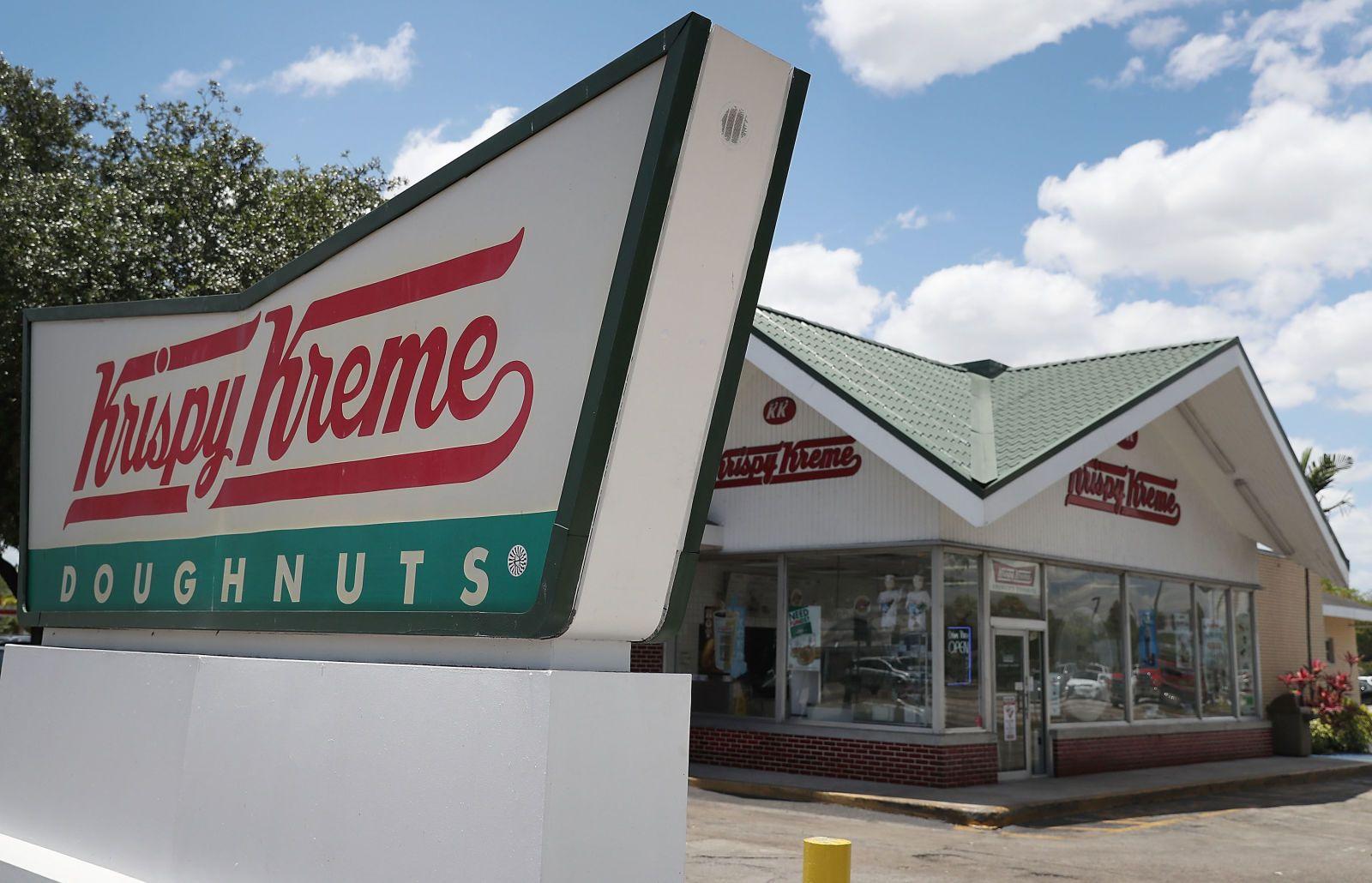 krispy kreme coffee donut
