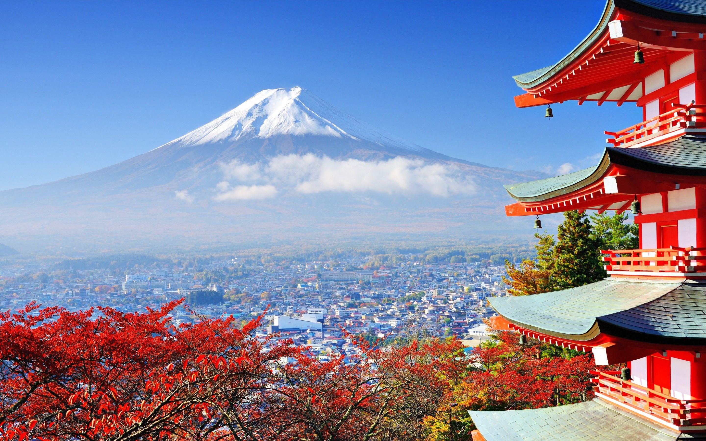 maisons de th japonais paysages fond cran hd nature paysage japon mont fuji yama japan. Black Bedroom Furniture Sets. Home Design Ideas