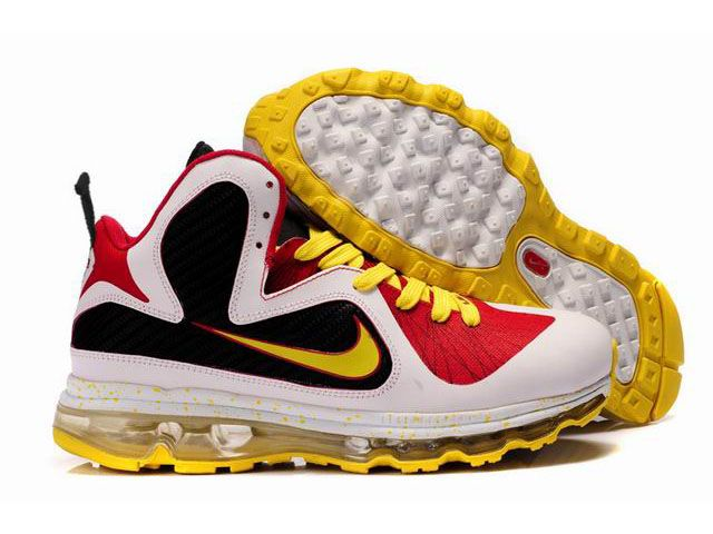 best cheap c912d f99a5 Nike Air Max LeBron 9(IX) MVP Shoes Black Red White Yellow