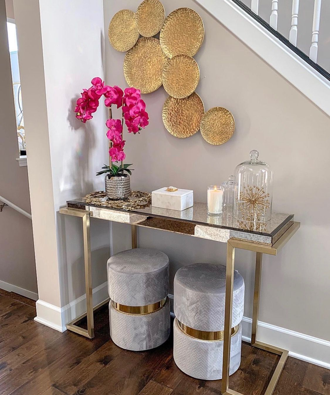 Staircase Ideas For Your Hallway That Will Really Make An: Table, Accents, Wall Decor For Staircase Wall (Inspire Me