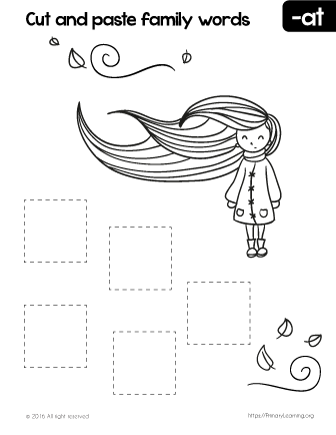 Free Cut And Paste At Family Words Word Family Worksheets