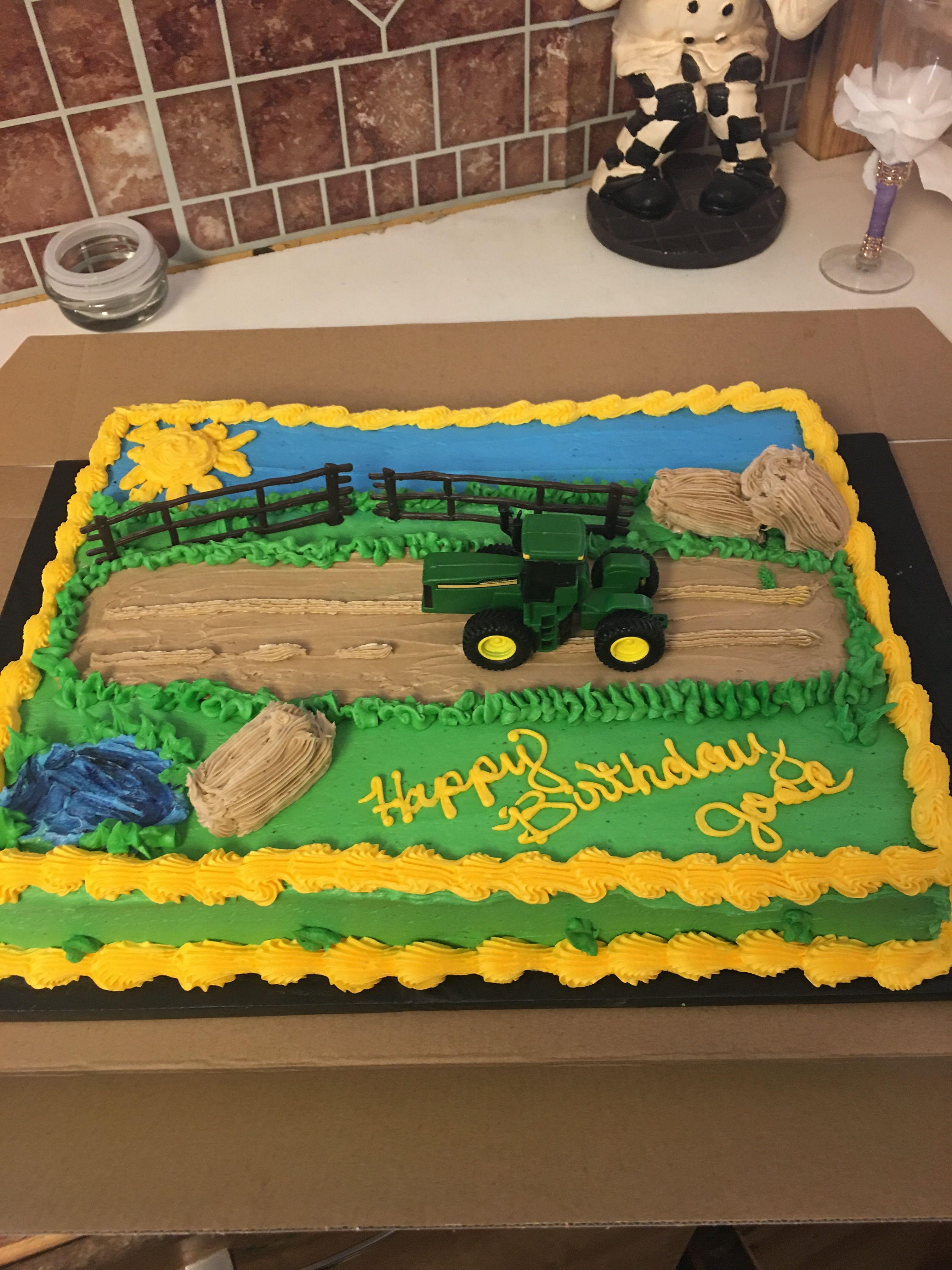 John Deere Tractor Birthday Cake 1 2 Vanilla Chocolate