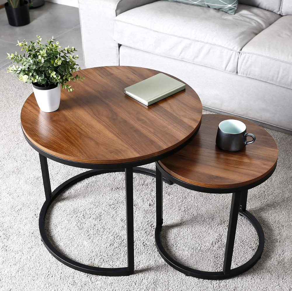 Amazonsmile Amzdeal Coffee Table For Living Room Set Of 2